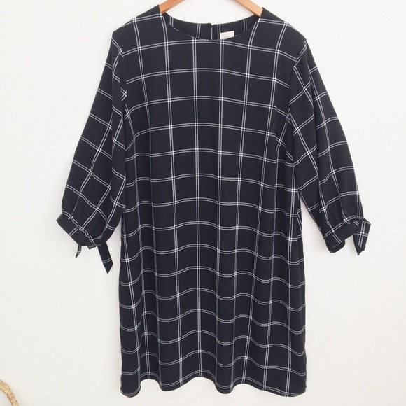 a new day Dresses & Skirts - A New Day Black & White Checked Shift Dress XXL